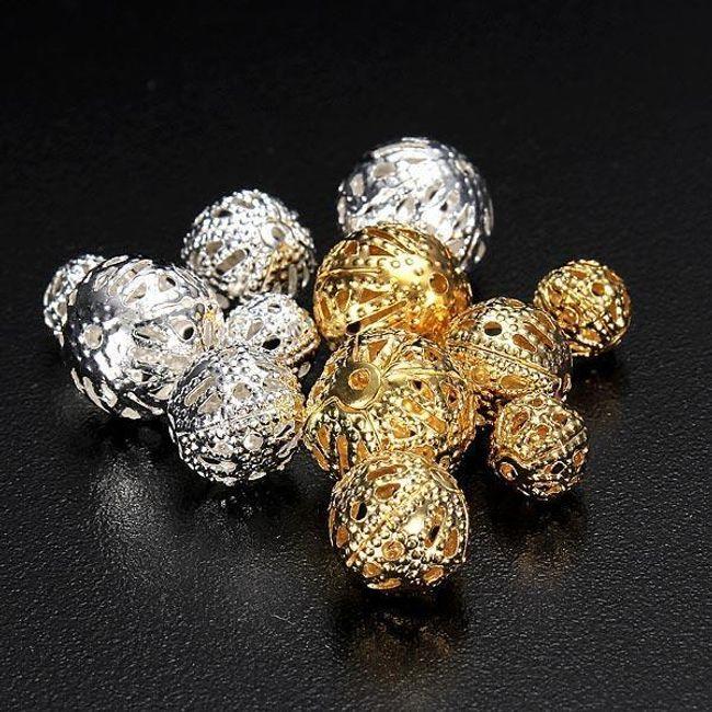 Koraliki do robienia biżuterii - 100 sztuk 1