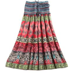 Kolorowa spódnica + sukienka