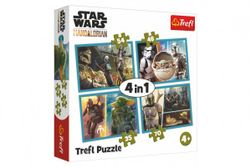 Puzzle 4v1 Mandalorianov a jeho svet / Star Wars v krabici 28x28x6cm RM_89034377