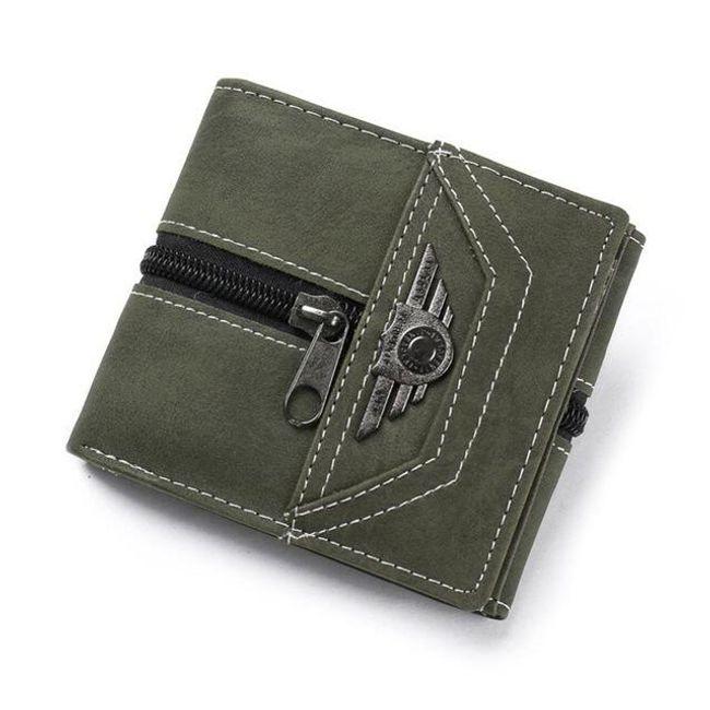 Cipzárral díszített pénztárca