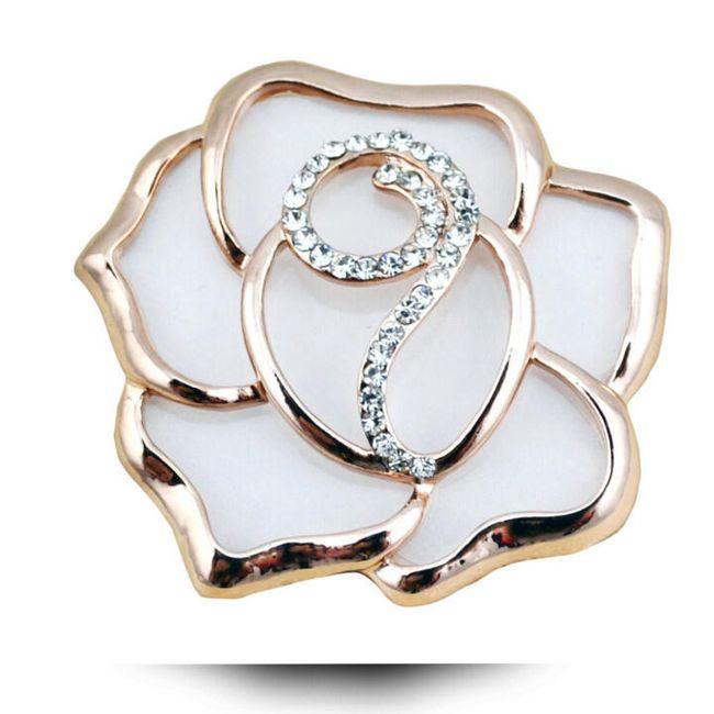 Женская брошь- Роза, 3 расцветки 1