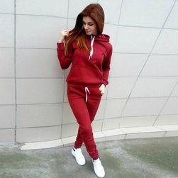 Дамски анцугов комплект с качулка - 3 цвята