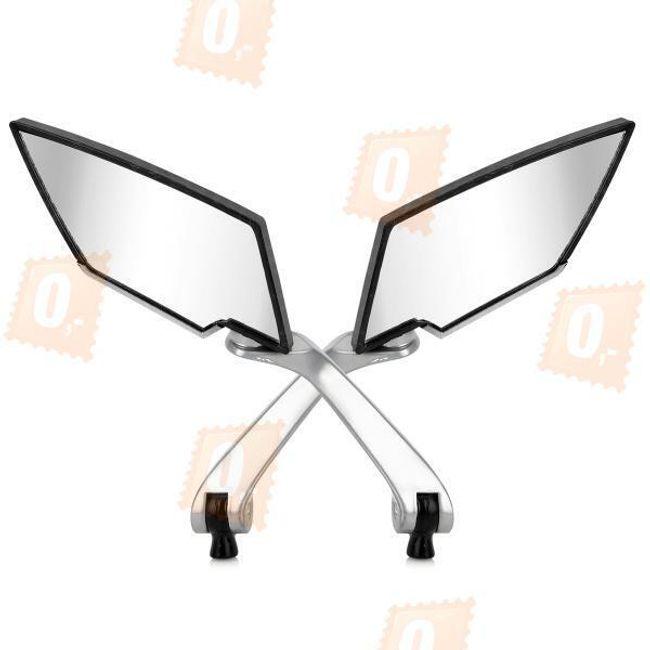 Hliníková zpětná zrcátka na motorku, univerzální - černá (2ks) 1