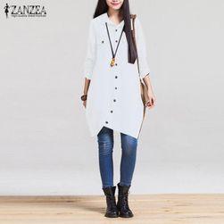 Dlouhá dámská košile - Bílá - velikost 5