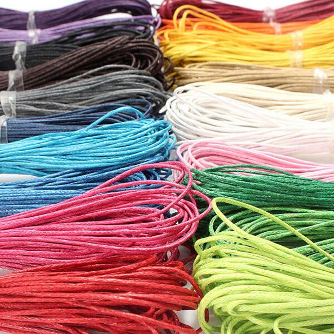 Sznurek do nawlekania na szyję- powoskowana bawełna - oferujemy 21 kolorów 1