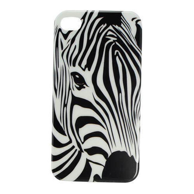 Plastový ochranný kryt na iPhone 4 a 4S - motiv Zebra 1