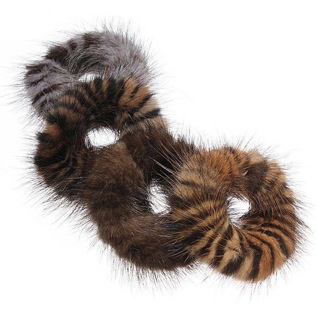 Kožešinová gumička do vlasů 1