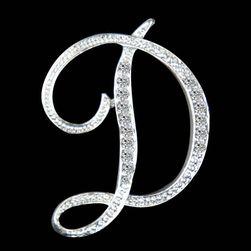 Брошь в форме буквы латинского алфавита - A-N