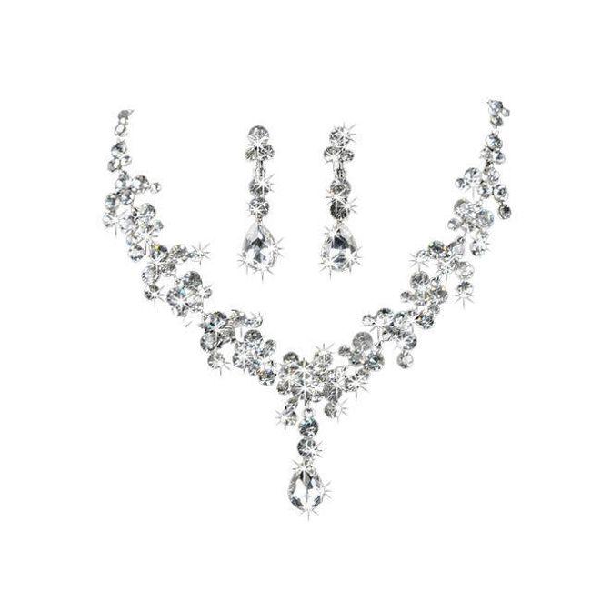 Sada šperků v podobě dešťových kapek 1
