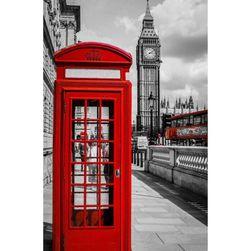 5D obraz s kamínky - Londýnská telefonní budka
