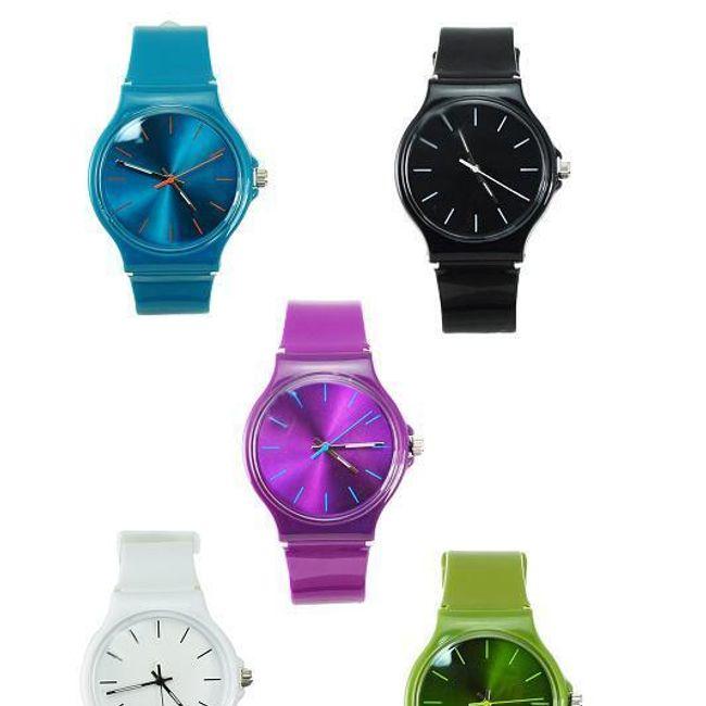 Barevné silikonové hodinky - unisex 1