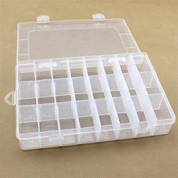 Przezroczysty plastikowy organizer - 24 przegródki
