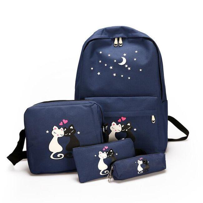 Szkolny komplet z plecakiem B06555 1