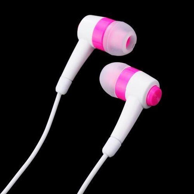 Stereo słuchawki 3,5mm - różowe wtyczki douszne 1