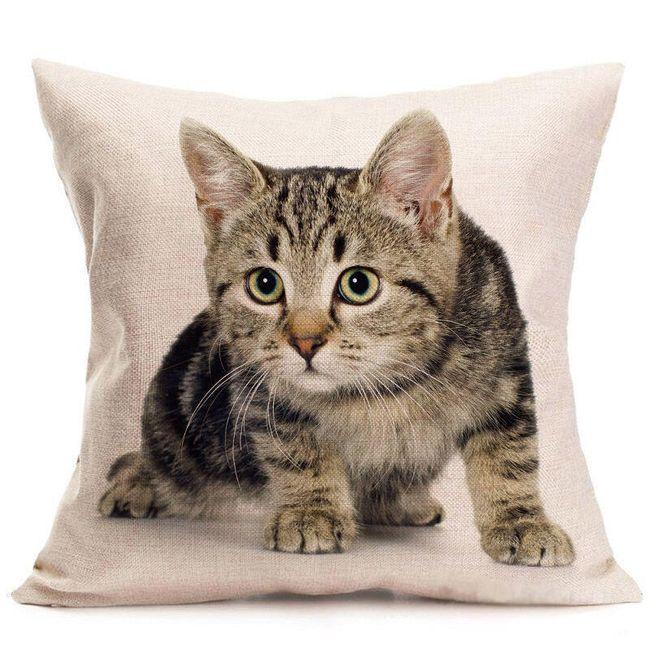 Povlak na polštář s motivy kočiček - 8 variant 1