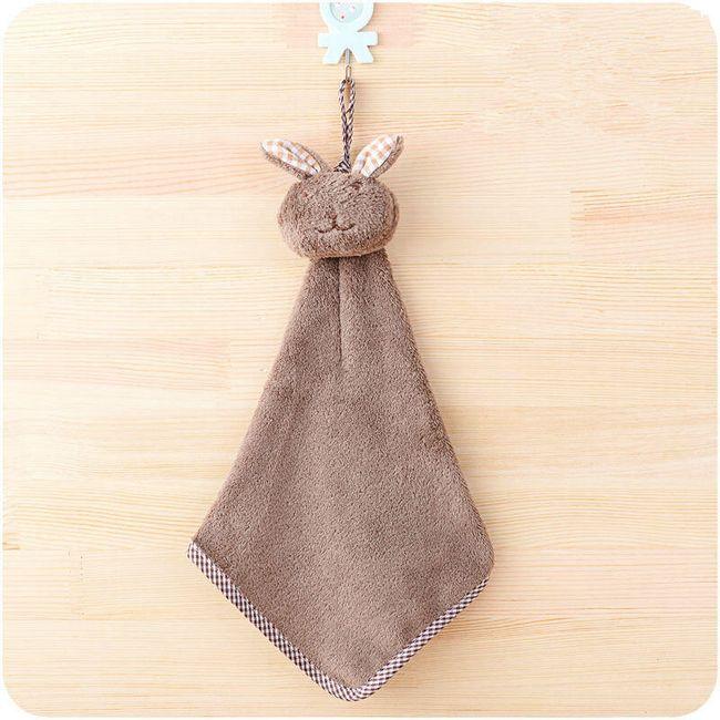 Otroška brisača za roke v obliki zajca 1