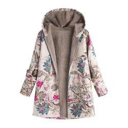 Kabát virágos nyomtatással