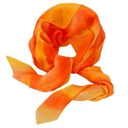 Hedvábný ručně malovaný šátek Kruhy slunce