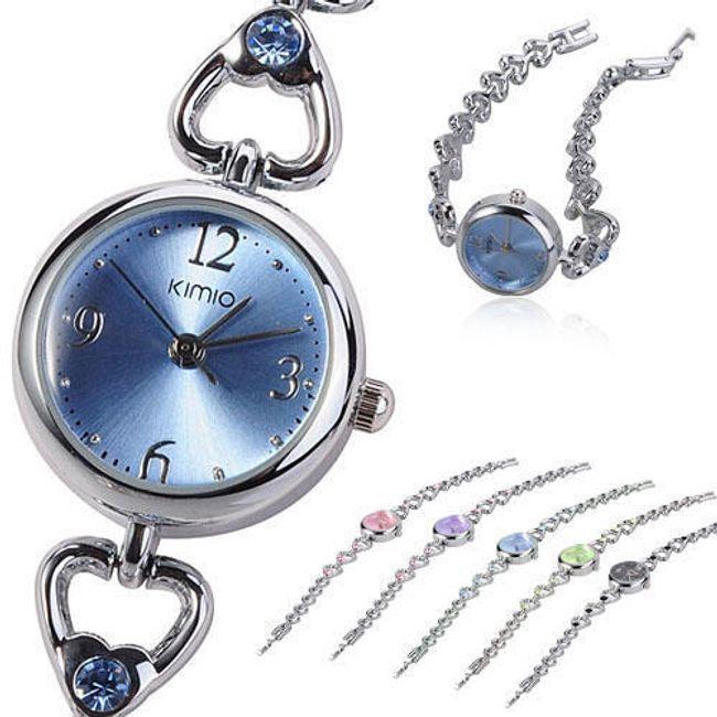 Elegantní dámské hodinky KIMIO zdobené kamínky - v 5 barvách 1