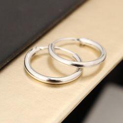 Kruhové náušnice pre dámy - 12 mm