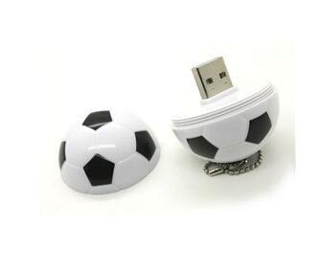 4GB Flash disk w kształcie piłki nożnej - czarno-biały 1