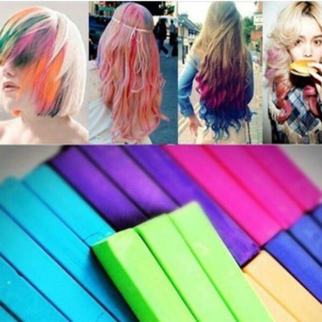 Kredy do farbowania włosów - 12 szt 1