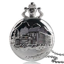 Džepni sat sa kamionom srebrne boje