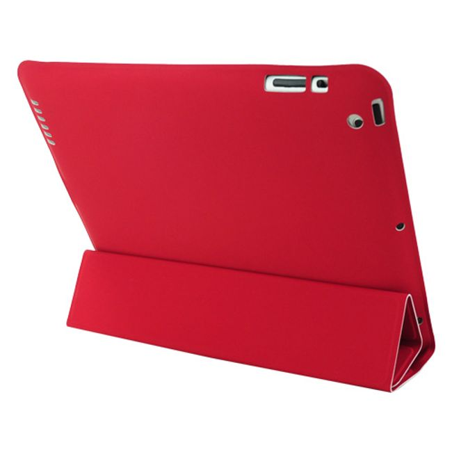 Magnetické chytré pouzdro pro nový iPad - červené ultratenké 1