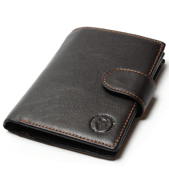 Klasická pánská peněženka s mnoha kapsami 1