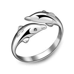 Podesiv prsten u obliku delfina