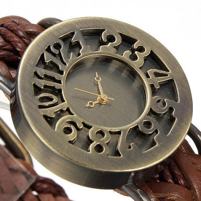 Oryginalny zegarek z paskiem z sztucznej skóry 1