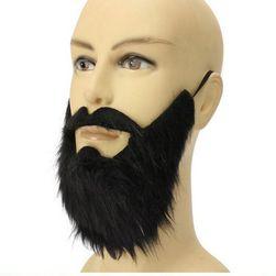 Фалшива брада с мустаци - черен цвят