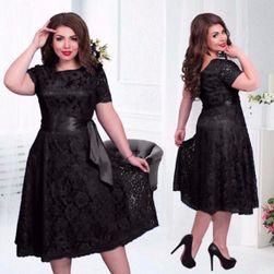 Čipkasta obleka črna-velikost št. 8