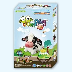Sada modelíny Jumping Clay k výrobě kravičky