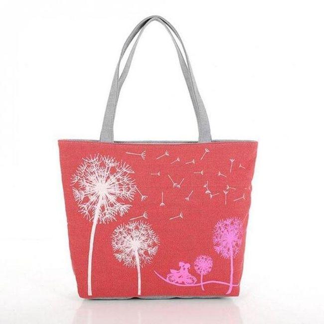 Plátěná taška s pampeliškami - 4 barvy 1