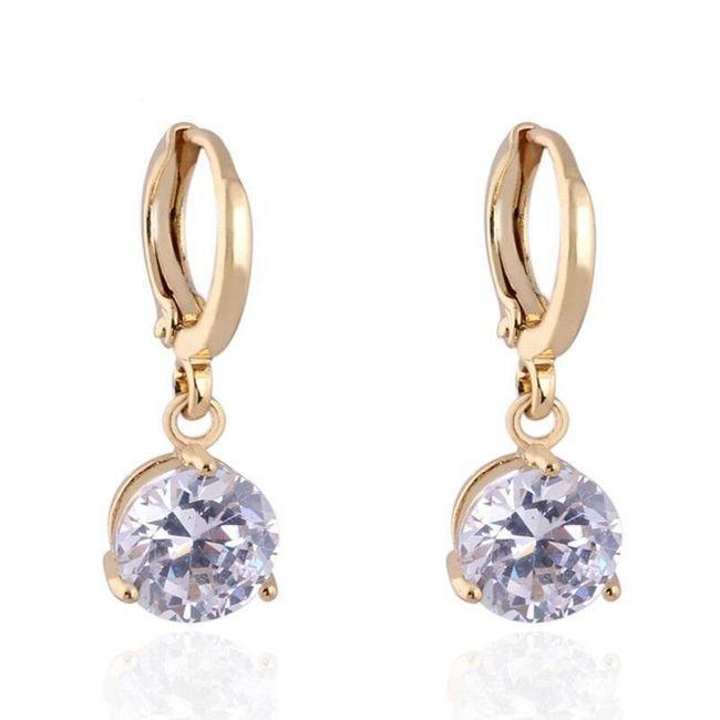 Női fülbevaló kövekkel - 5 színben 1