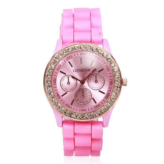 Силиконовые часы Geneva - светло-розовый 1