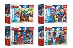 Minipuzzle 54 dílků Avengers/Hrdinové 4 druhy v krabičce 9x6,5x4cm 40ks v boxu RM_89154166