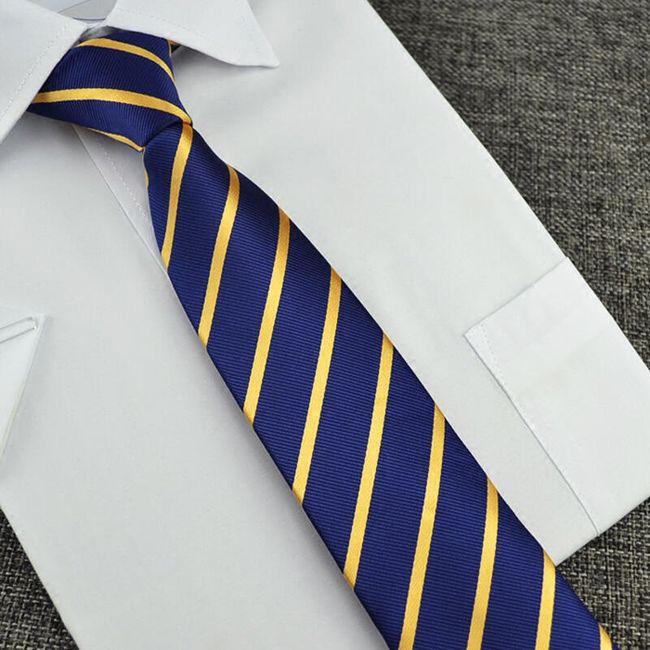 Férfi kék-arany nyakkendő.