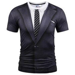 Majica sa printom sakoa i kravate