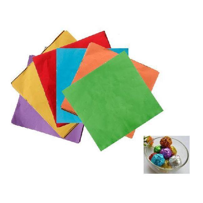 Barevné papírky na balení čokoládových bonbonů - 100 ks 1