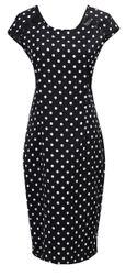 Elegantní dámské šaty s koženkovým zdobením na rameni - B-velikost č. 6
