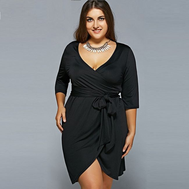 Dámské šaty Plus Size - 2 barvy 1
