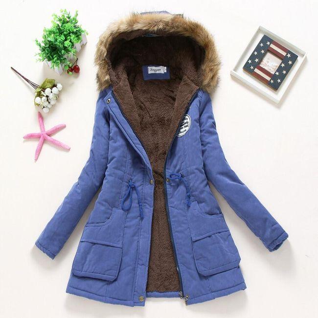 Dámská zimní bunda Jane - safírová - velikost XL 1