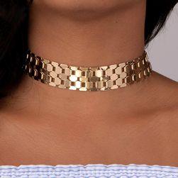 Kovový choker náhrdelník - 2 barvy