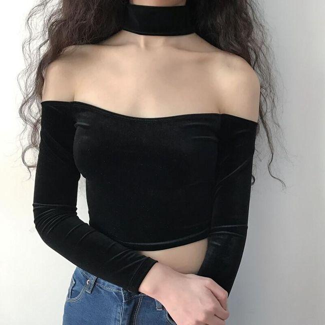 Női póló  kitett vállakkal Moana