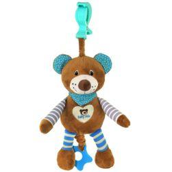 Edukační hrající plyšová hračka s klipem  medvídek RW_37194