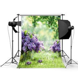 Pozadina Photo studija  1 x 1,5 m - Vrt sa ljubičastim jorgovanom
