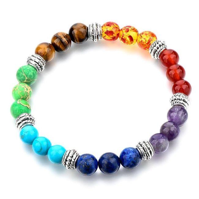 Náramek s různě barevnými korálky 1