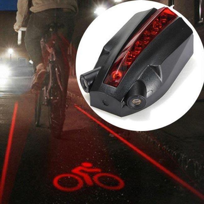 Hátsó LED-es kerékpárfény két lézerrel 1